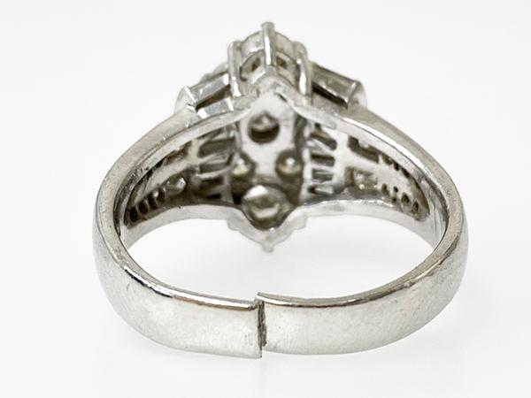 切れて変形した指輪の修理